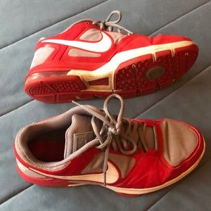 Nike Shoes - Nike men's size 10 Trainer 1 - Red w/ grey & white